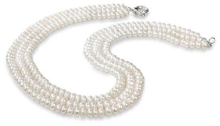 JwL Luxury Pearls Tri-vrstna biserna ogrlica JL0063