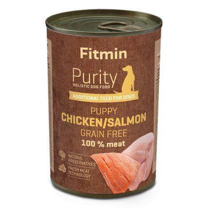 Fitmin Hrana za pse Dog Purity tin puppy salmon with chicken, 400 g