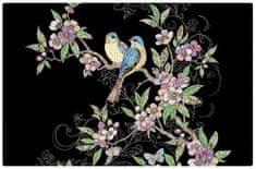 Kiub pogrinjek, ptička na veji (1400)