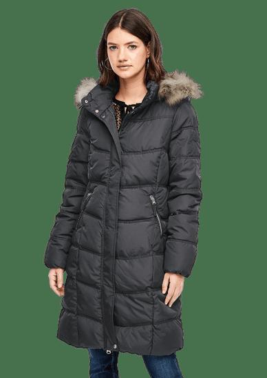 Q/S designed by dámsky kabát 4E.995.52.4761 XL, tmavošedá