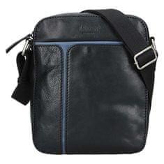 Lagen Męska skórzana torba 25919 Blk / Blue