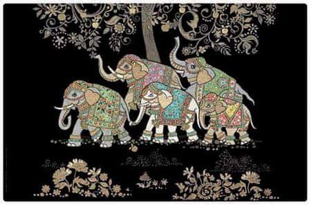 Kiub pogrinjek, slonja družina (1401)