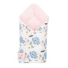 NEW BABY Oboustranná zavinovačka z Velvet New Baby 75x75 cm pávi růžová