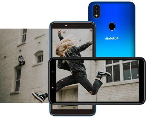 Aligator S5540, velký IPS displej, dostupný levný telefon