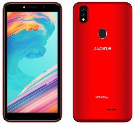 Aligator S5540, atraktivní design, dostupný levný telefon, LTE, Android 9, odemykání obličejem, otiskem prstu