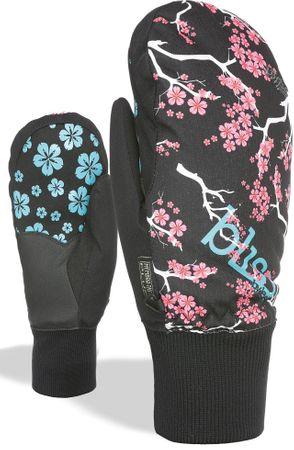 LEVEL Bliss Coral Mitt Grey ženske zimske rokavice, sive, 7