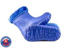 Dětské zateplené boty FLAMEshoes D-3001 modré
