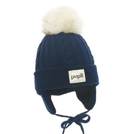 Pupill czapka chłopięca AURORA 38 - 40 niebieska