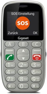 Gigaset GL390, mobil pro seniory, hlasitý, kompatibilní s naslouchátky