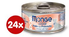 Monge konzervirana pasja hrana Natural s piščancem in svinjino, 24 x 95 g