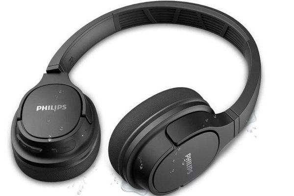 philips tash402 słuchawki bezprzewodowe bluetooth 5.0 chłodzący żel w nausznikach wygodne w noszeniu wyraźne basy czysty dźwięk zamknięty system akustyczny uniwersalne 20 godzin działania szybkie ładowanie ochrona ipx4