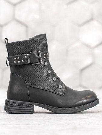 Evona Kotníkové černé boty, velikost 36.