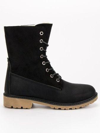 Női bokacipo 49899 + Nőin zokni Sophia 2pack visone, fekete, 36