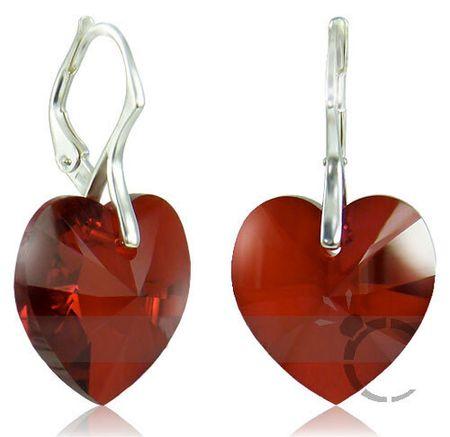 Fülbevaló szív Siamban 32125 ezüst 925/1000