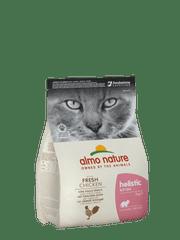 Almo Nature suha hrana za odrasle mačke Holistic, piscanec in riž, 2 kg