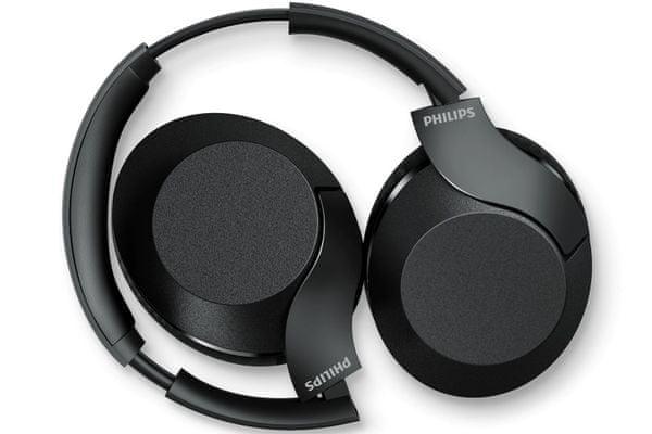philips taph802 minimalistický dizajn Bluetooth bezdrôtová technológia vo verzii 4.2 dosah 10 m hi-res audio zvuk bohaté basy 30 h výdrže rýchlonabíjanie káblové pripojenie mikrofón pre handsfree