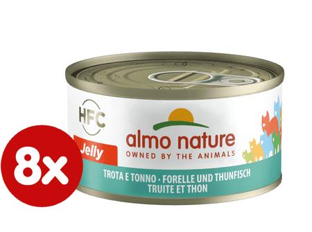Almo Nature HFC CAT Pstruh a tuňák 8 x 70g