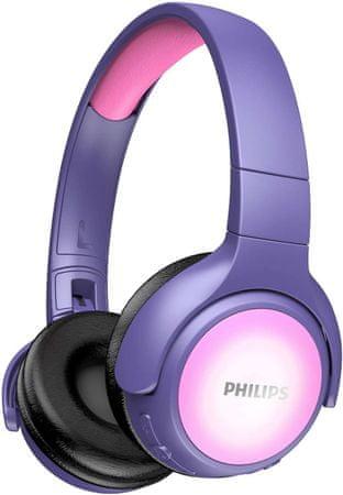 Philips słuchawki bezprzewodowe TAKH402, różowe/fioletowe