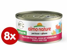 Almo Nature HFC CAT Csirke és máj és 8 x 70 g