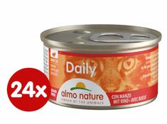 Almo Nature Daily Menu Kúsky s hovädzím 24 x 85 g