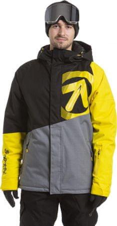 MEATFLY Bang Jacket Black/Sun Yellow/Grey Heather, XS