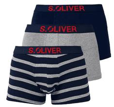 s.Oliver trojitá sada boxeriek 26.899.97.4255