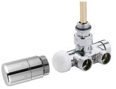 SAPHO MONO ONE připojovací sada ventilů termostatická jednobodová, broušená nerez (CP2550)
