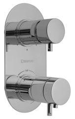 SAPHO RHAPSODY podomítková sprchová termostatická baterie, 3 výstupy, chrom (5592T)