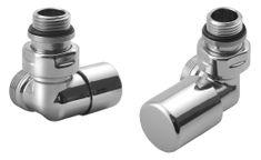 AQUALINE FIRST CORNER připojovací sada ventilů, pravé provedení, chrom (CP920)