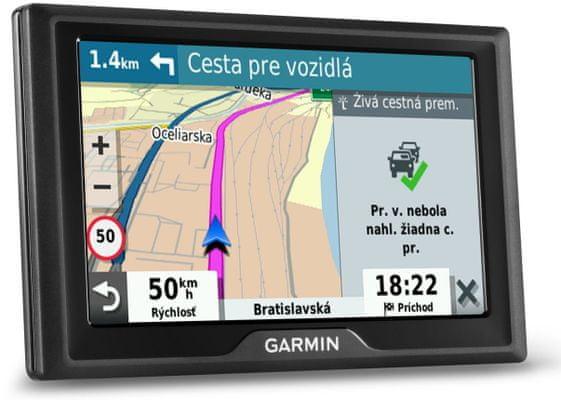Nawigacja samochodowa GPS Garmin Drive 52 mapa Europy, dożywotnie aktualizacje, ciekawe miejsca