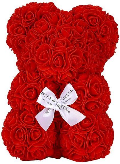 Notta & Belle Červený medvídek z růží - 25cm