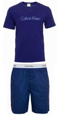 Calvin Klein pánske pyžamo NM1746E S/S Short Set S modré