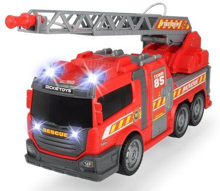 DICKIE AS tűzoltóautó 36 cm, fény, hang, kézi szivattyú