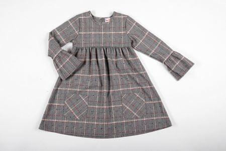Topo dekliška obleka, 128, siva