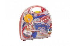 Teddies Sada doktor plast 9ks v plastovém kufříků 22x21x6cm v sáčku