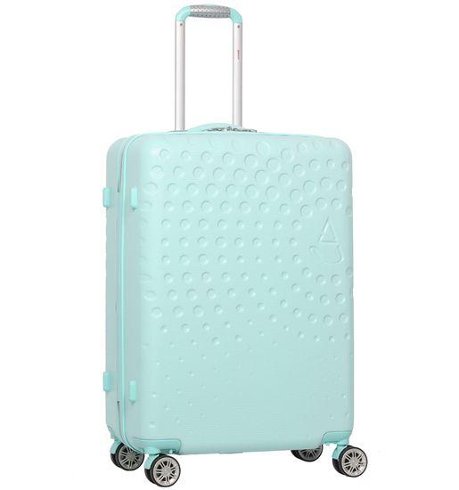 Aerolite Cestovní kufr T-565/3-M ABS, světle zelená