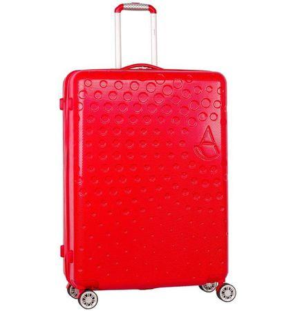 Aerolite Cestovní kufr T-565/3-L ABS, červená