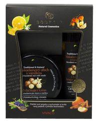 Body tip Dárková kazeta Makadamový ořech s vanilkou - Zvláčňující krém 200 ml + Pěna do koupele 200 ml