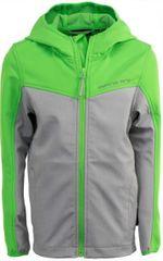 ALPINE PRO Dětská softshellová bunda Yuriko - zeleno-šedá