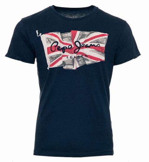 Pepe Jeans pánske tričko Flag Logo M tmavo modrá