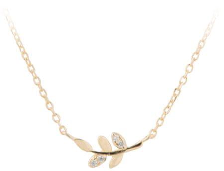 JVD Aranyozott nyaklánc levelekkel SVLN0129XD5G042 ezüst 925/1000