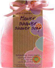 Bomb Cosmetics Sprchové masážní mýdlo s houbičkou Flower Shower (Shower Soap) 140 g