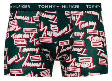 Tommy Hilfiger pánské boxerky UM0UM01539 Trunk Tommy Flag S zelená