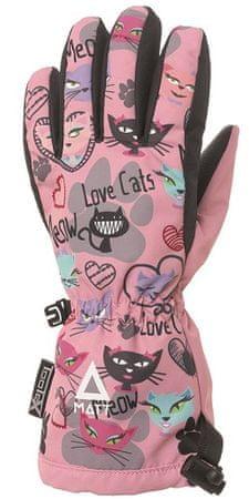 Matt 3216 Love Cats dekliške rokavice, roza, 104/110