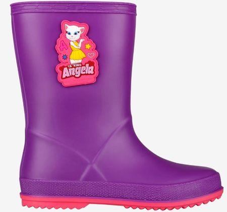 Coqui Rainy Talking Tom & Friends dekliški škornji Purple/Lt. fuchsia, 24, vijolični