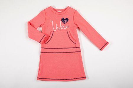 Topo dekliška obleka 6-12100-927_624, 98, oranžna