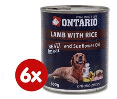 Ontario konzerva jahňacie, ryža a slnečnicový olej 5+1 x 800g