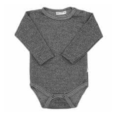 BABY SERVICE Zimné dojčenské body Baby Service Retro sivé 56 (0-3m) Sivá