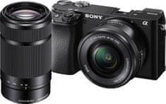 Sony ILCE-6100YB brezzrcalni fotoaparat + SELP1650 in SEL55210 objektiva