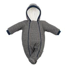 BABY SERVICE Zimná dojčenská kombinéza s kapucňou Baby Service Retro sivá 62 (3-6m) Sivá